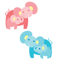 a mother elephant with baby vector image vector image