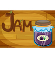 A wooden frame with a jam vector image