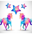 Abstract horse of geometric shapes with star vector image