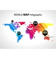 Abstract world map infographic with points and vector image vector image
