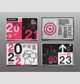 annual report 20212022 2023 future business vector image