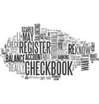 are you scared of your checkbook register text vector image vector image