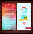 assorted graphic borders and save date banner vector image vector image