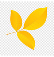 autumn leaf icon flat style vector image