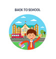 back to school poster flat vector image vector image