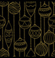 beautiful monochrome black and gold pattern vector image vector image