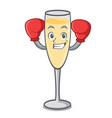 boxing champagne character cartoon style vector image