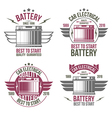 Car battery shop emblems vector image