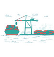 cargo loading vector image