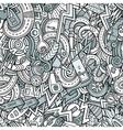 Cartoon hand-drawn doodles Vehicle theme vector image vector image