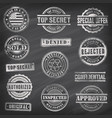 chalkboard commercial stamps vector image vector image