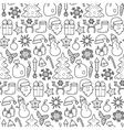 Christmas Patch Seamless Pattern vector image vector image