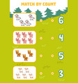 counting game for preschool children count farm vector image vector image