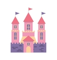 cute castle isolated icon vector image vector image