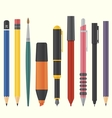 drawing and writing tool set vector image vector image