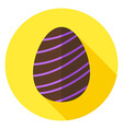 Easter Egg with Line Decor Circle Icon vector image vector image