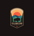 emblem patch logo yellowstone national park vector image vector image