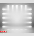 empty gray studio background with spotlights vector image