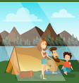 family camping concept vector image vector image