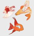 fantastic flying fish vector image vector image