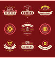 fast food logos set good for vector image