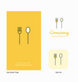 fork and spoon company logo app icon and splash vector image vector image