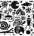 funny animals seamless pattern for your design vector image