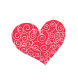 funny doodles heart vector image vector image