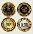 gold and black labels vector image vector image