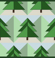 good seamless firs forest pattern vector image