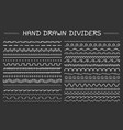 hand drawn dividers vector image
