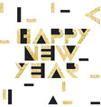Happy New Year Postcard Golden Gold Geometric vector image vector image