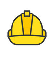 hard hat filled outline icon carpenter and vector image