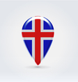Icelandic icon point for map vector image vector image