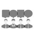 icons of businessmen with dialog speech bubbles vector image vector image