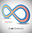 Infinity Symbol Perspective 3D with Infinite Icons vector image vector image