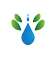 isolated drop water symbol abstract spa logo vector image vector image