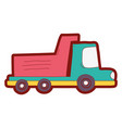 line color dump truck industry and contruccion vector image vector image