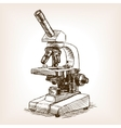 Microscope sketch style vector image vector image