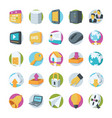 network and communication icons 2 vector image