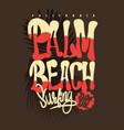 palm beach california t-shirt graphic vector image vector image