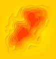 papercut multi layer orange cut out background vector image