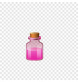 pink glass flask icon cartoon style vector image vector image