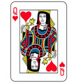 queen of hearts french version vector image vector image