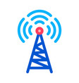 radio tower antenna icon outline vector image vector image
