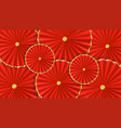 red paper umbrellas abstract background vector image