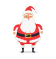 santa claus with one closed eye winks and wishes vector image