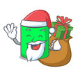 santa with gift mug mascot cartoon style vector image vector image
