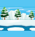 scene with snow on the ground vector image vector image