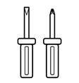 screwdriver outline vector image vector image